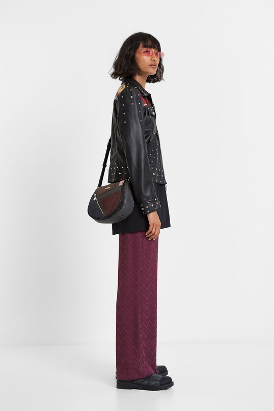 Embroidery studs jacket | Desigual