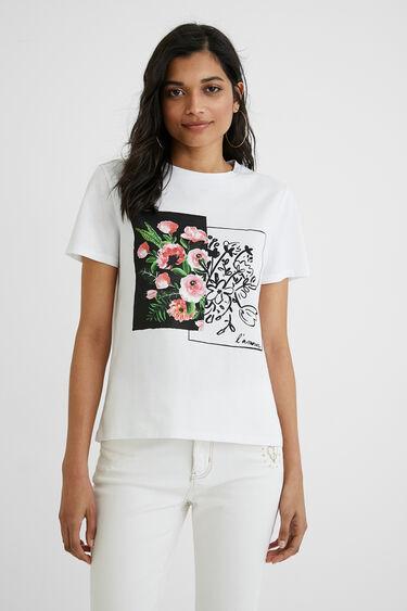 100% cotton T-shirt flowers | Desigual