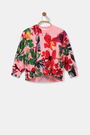 Floral jumper gathered cuffs | Desigual