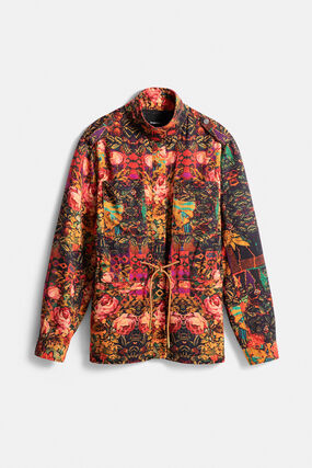 Straight floral parka