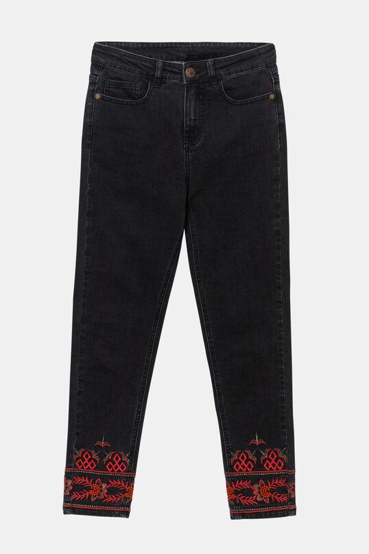 Denim-Jeans mit Stickerei an den Knöcheln | Desigual