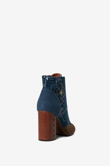 Denim ankle boot wooden heel   Desigual