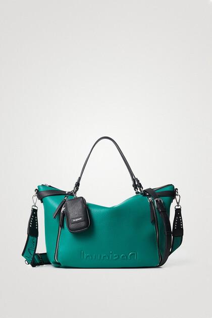 Große, einfarbige Handtasche