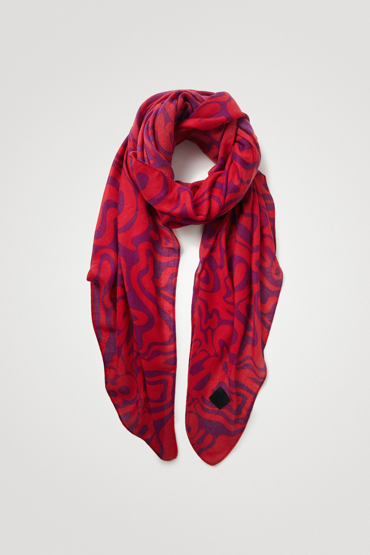 Grand foulard psychédélisme - RED - U