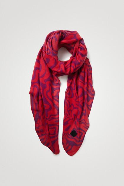 Grote psychedelische sjaal