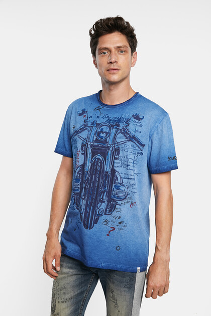 Motorcycle T-shirt 100% cotton