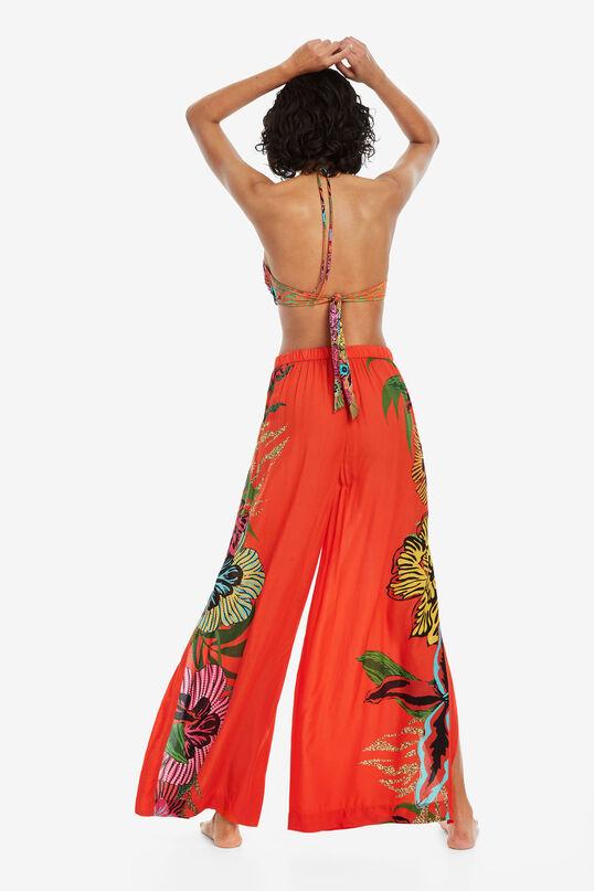 Pantalon rouge à fleurs Hendel | Desigual