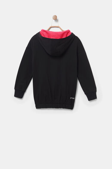 Hooded loose jumper sequins | Desigual