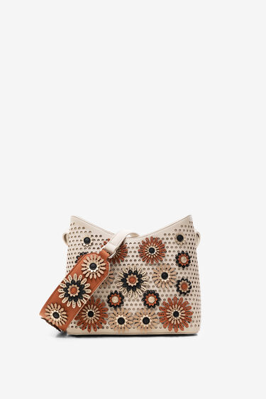 Bag embossed with flowers | Desigual