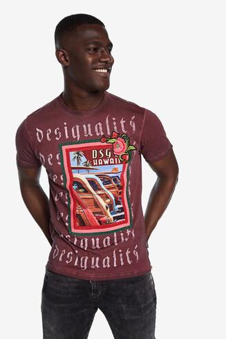 Window-effect Hawaiian T-shirt