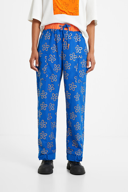 Long floral trousers