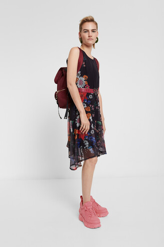 Vestido tul floral