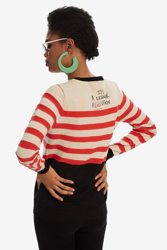Round-neck striped jumper   Desigual