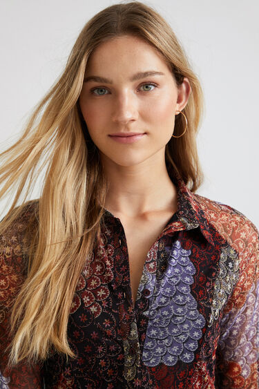 Elastisches Hemd Bordüren | Desigual