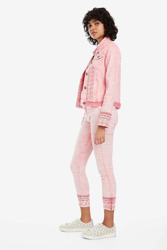 Pink jacket with embroidery Boho | Desigual