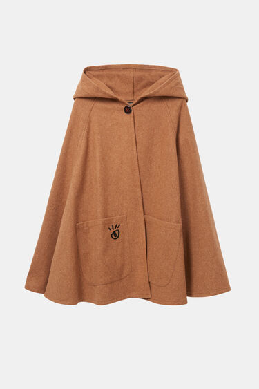 Flower poncho hood | Desigual