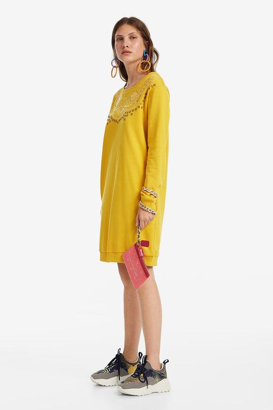 Vestido sudadera bordado | Desigual