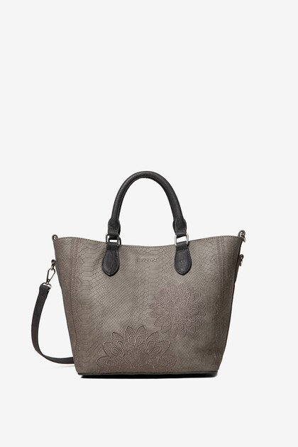 2 in 1 snakeskin-effect bag
