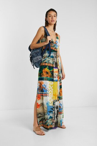 Eco beach dress, with exotic landscapes