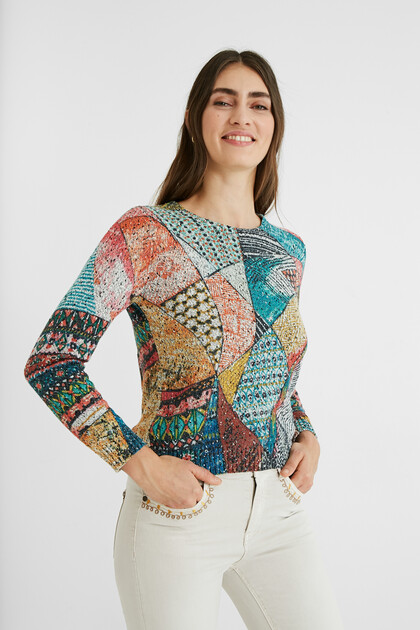 Arty knit jumper