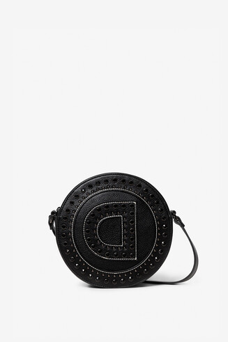 Round bag logo and studs
