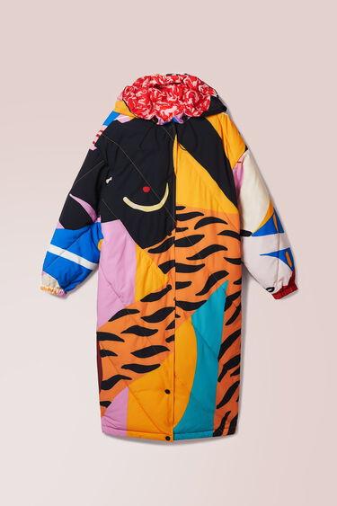 Padded print coat | Desigual