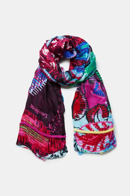 Rechthoekige gebloemde sjaal