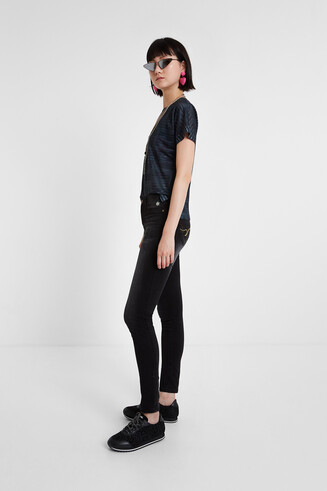 Pantalons denim negre Skinny