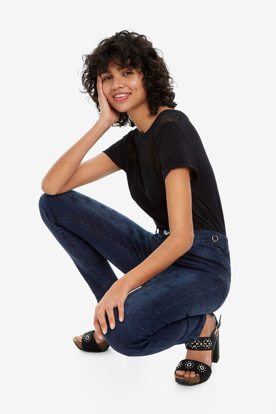 Denim jeans with stars NY Stars   Desigual