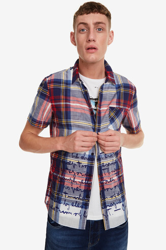 Camisa escocesa amb lettering Kamarat