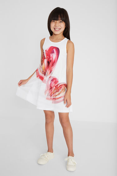 Short dress front tulle layer | Desigual