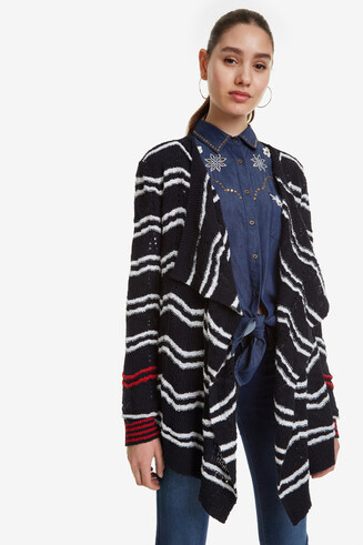 Navy Open Cardigan Cashel