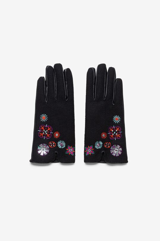Short embroidered gloves | Desigual