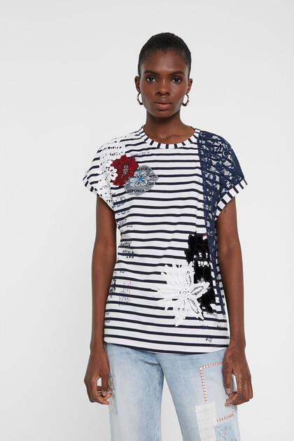 Maglietta corta marinara e floreale