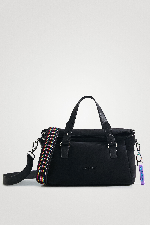 Handbag technical fabric solid colour - BLACK - U