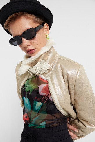 Glitter effect jacket