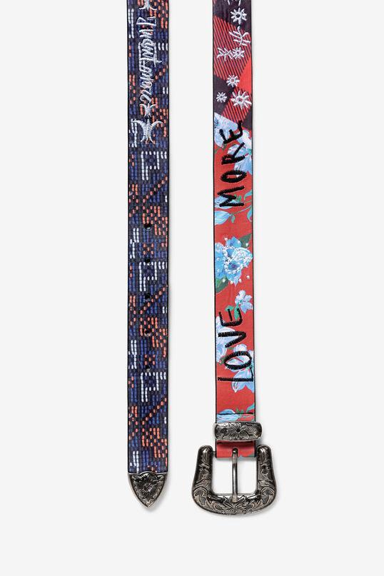 Floral metal buckle belt   Desigual