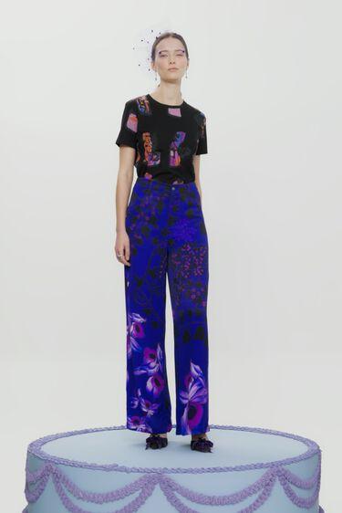 Wide leg trousers flowers | Desigual
