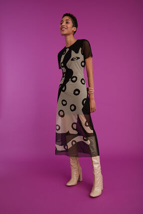 Long semitransparent dress