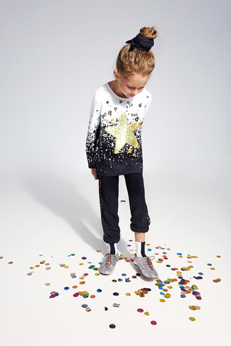 T-shirt reversible sequins
