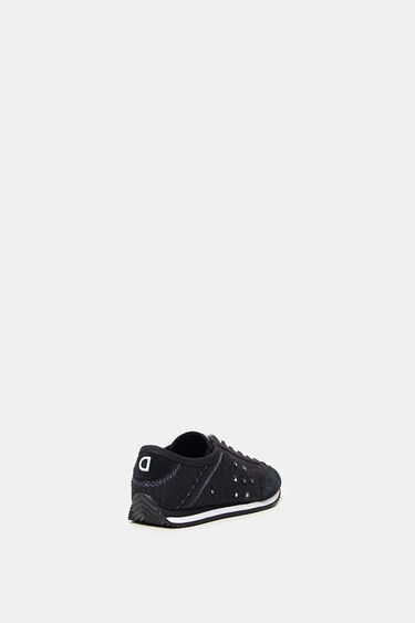 Leather sneakers embroidered | Desigual