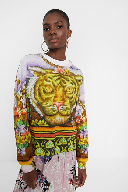 Hindu animal print sweatshirt