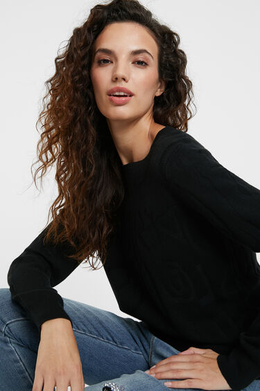 Knit jumper logomania | Desigual