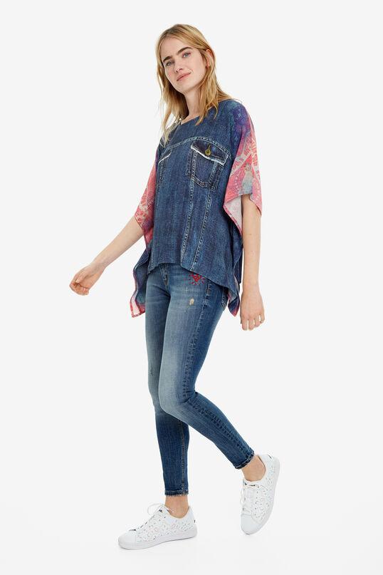 Blouse en jean à manches amples Denia | Desigual