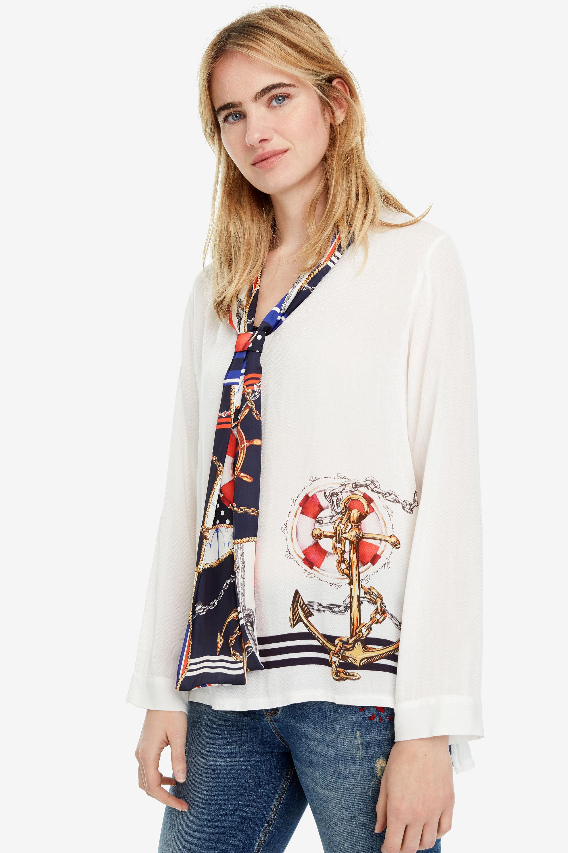 Blusa bianca marinaretta Indira | Desigual