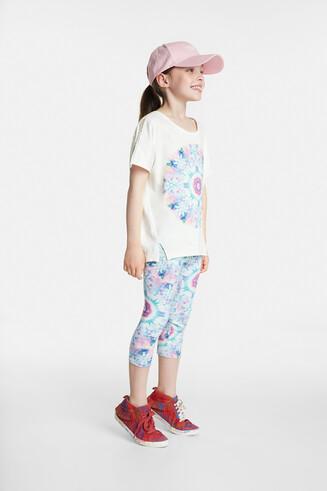 Organic T-shirt with floral mandala