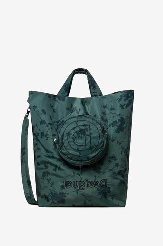 Bolsa floral con bolsillo extraíble