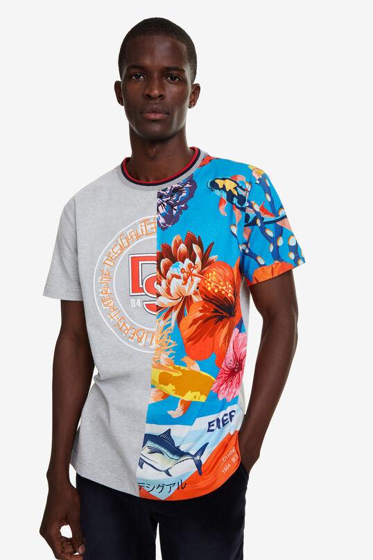 Hawaiian hybrid T-shirt   Desigual