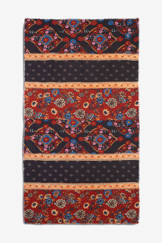 Autumnal boho rectangular scarf | Desigual