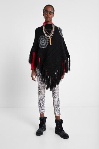 Knit mandalas poncho